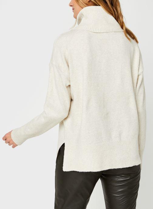 Vêtements Vero Moda Vmdoffy Cowlneck Blouse Blanc vue portées chaussures
