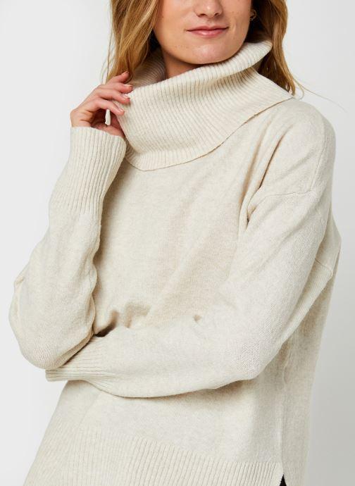 Vêtements Vero Moda Vmdoffy Cowlneck Blouse Blanc vue face