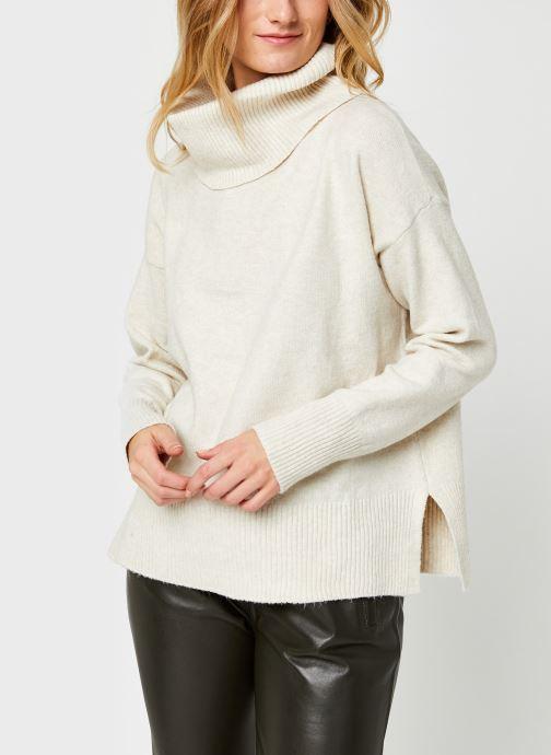 Vêtements Vero Moda Vmdoffy Cowlneck Blouse Blanc vue droite