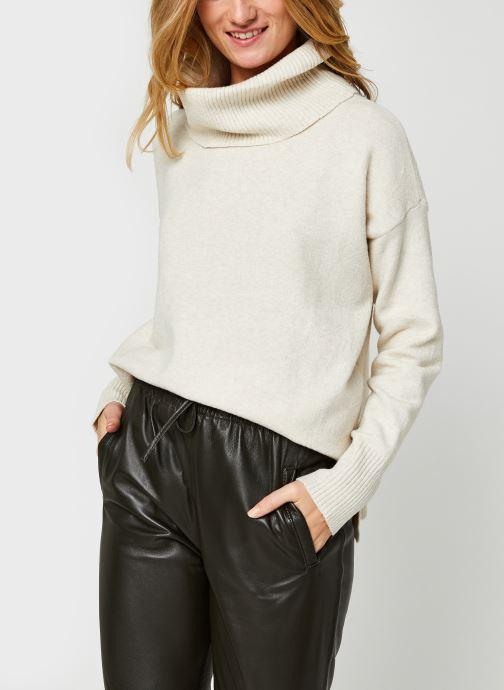 Vêtements Vero Moda Vmdoffy Cowlneck Blouse Blanc vue détail/paire