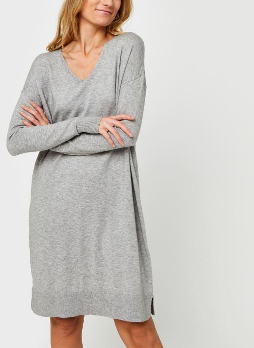 Vêtements Vero Moda Vmholly V-Neck Loose Dress Gris vue droite