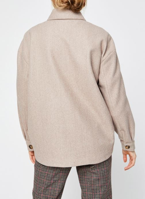 Vêtements Vero Moda Vmally Jacket Beige vue portées chaussures