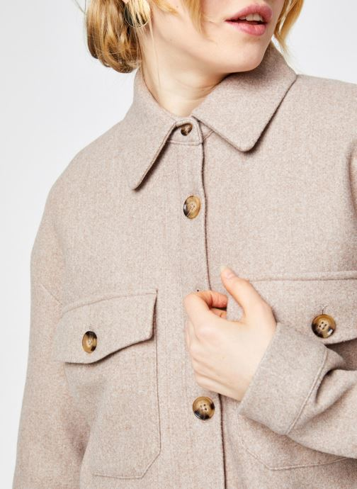 Vêtements Vero Moda Vmally Jacket Beige vue face
