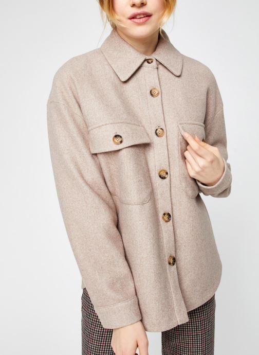 Vêtements Vero Moda Vmally Jacket Beige vue droite
