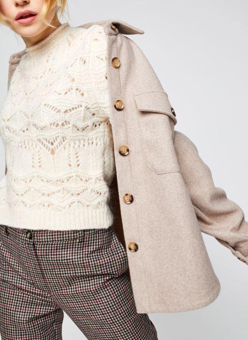 Vêtements Vero Moda Vmally Jacket Beige vue détail/paire