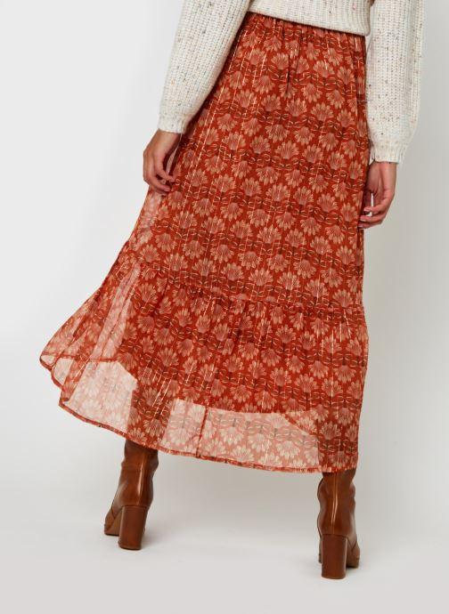 Vêtements Vero Moda Vmbianca Ankle Skirt Orange vue portées chaussures