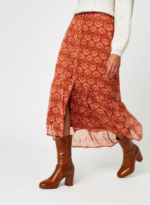 Vêtements Vero Moda Vmbianca Ankle Skirt Orange vue détail/paire