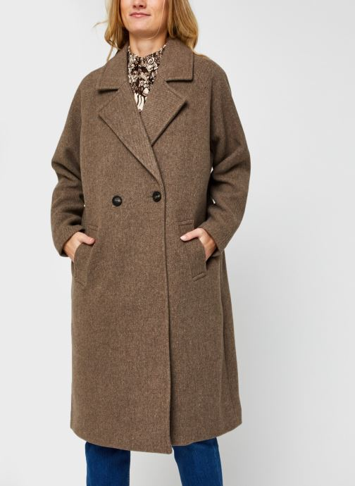 Vêtements Vero Moda Vmclassgold Long Jacket Marron vue droite