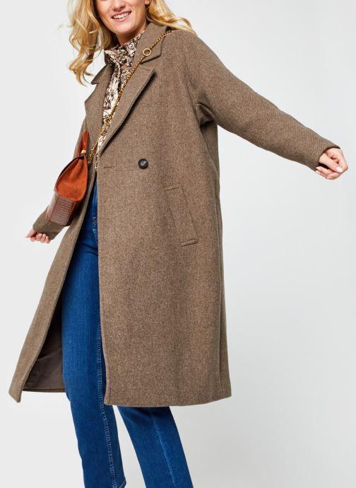 Vêtements Vero Moda Vmclassgold Long Jacket Marron vue détail/paire