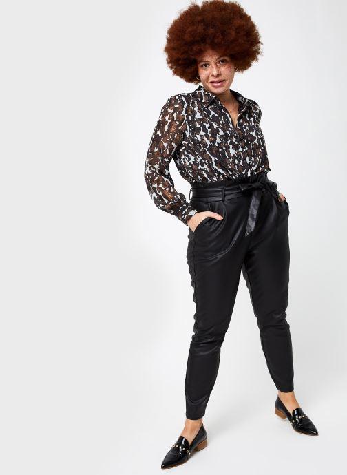 Vêtements Vero Moda Vmeva Loose Paperbag Coated Pant Noir vue bas / vue portée sac