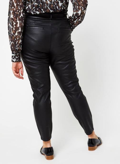 Vêtements Vero Moda Vmeva Loose Paperbag Coated Pant Noir vue portées chaussures