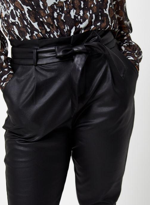 Vêtements Vero Moda Vmeva Loose Paperbag Coated Pant Noir vue face