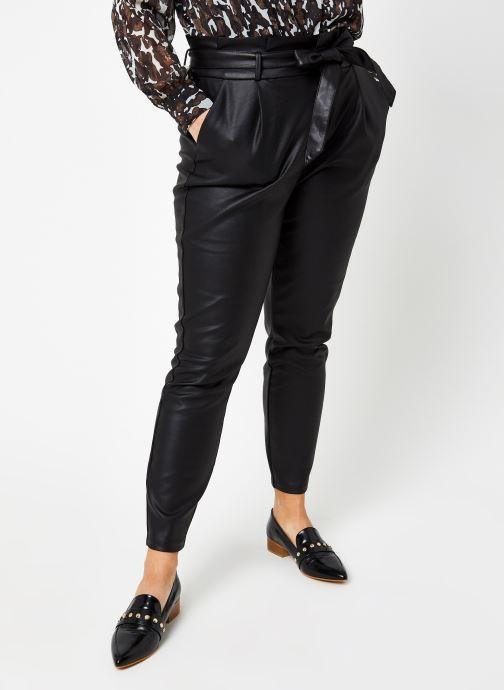 Vêtements Vero Moda Vmeva Loose Paperbag Coated Pant Noir vue détail/paire
