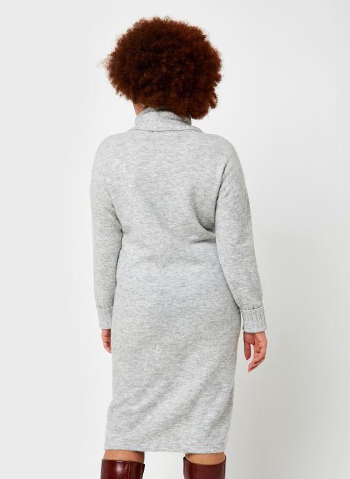 Vêtements Vero Moda Vmgaiva Cowl Neck Dress Gris vue portées chaussures