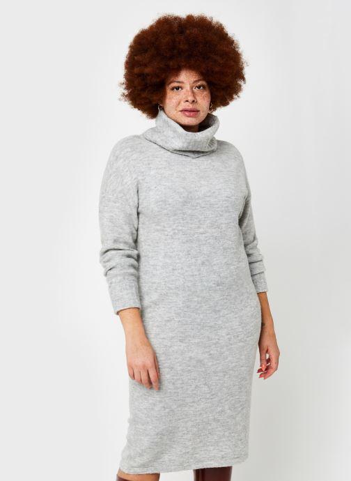 Vêtements Vero Moda Vmgaiva Cowl Neck Dress Gris vue droite