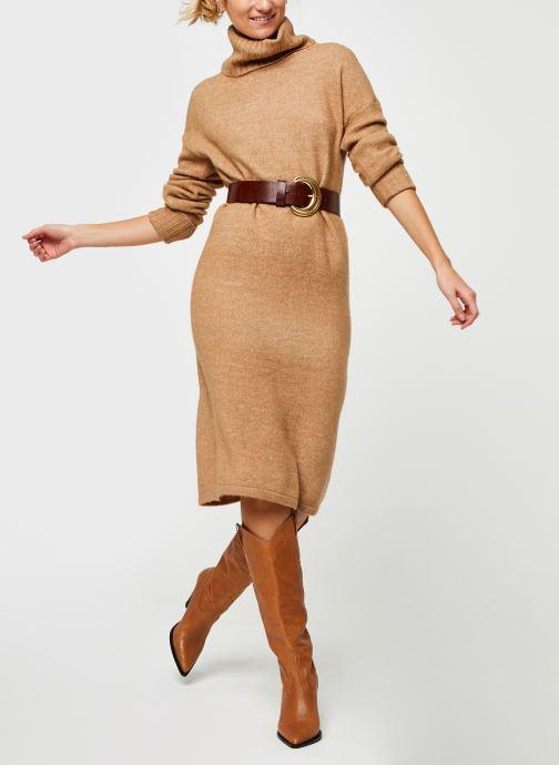 Vêtements Vero Moda Vmgaiva Cowl Neck Dress Beige vue bas / vue portée sac