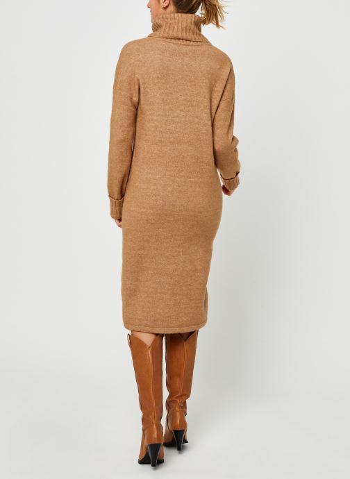 Vêtements Vero Moda Vmgaiva Cowl Neck Dress Beige vue portées chaussures