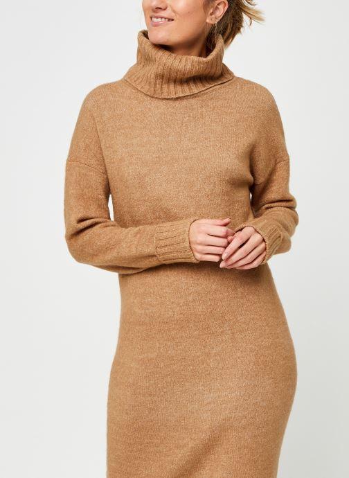 Vêtements Vero Moda Vmgaiva Cowl Neck Dress Beige vue droite