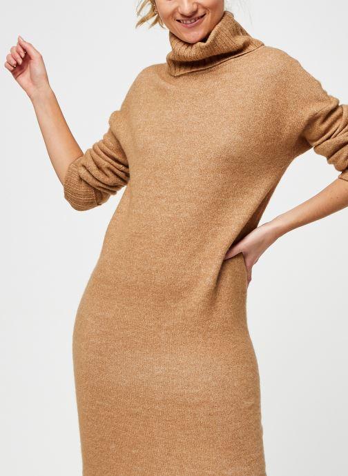 Vêtements Vero Moda Vmgaiva Cowl Neck Dress Beige vue détail/paire