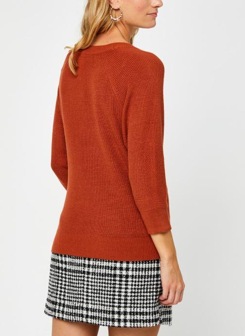 Vêtements Vero Moda Vmgalex V-Neck Blouse Orange vue portées chaussures