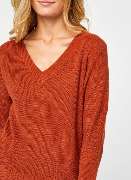 Vêtements Vero Moda Vmgalex V-Neck Blouse Orange vue face