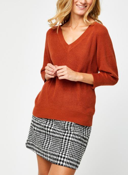 Vêtements Vero Moda Vmgalex V-Neck Blouse Orange vue droite