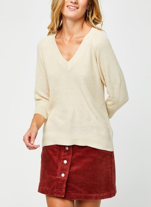 Vêtements Vero Moda Vmgalex V-Neck Blouse Beige vue droite