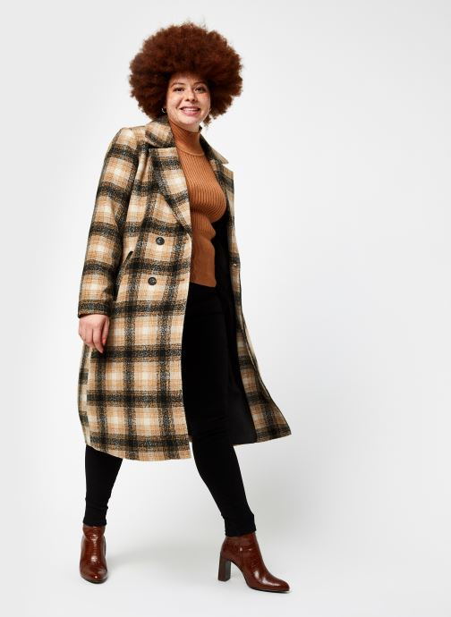 Vêtements Vero Moda Vmhailey Check Long Wool Jacket Ga Marron vue bas / vue portée sac