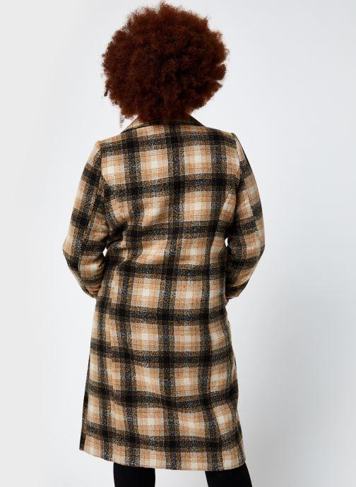 Vêtements Vero Moda Vmhailey Check Long Wool Jacket Ga Marron vue portées chaussures