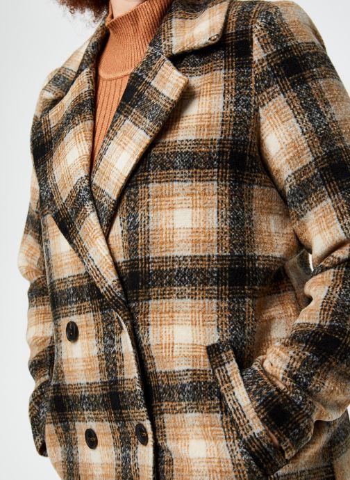 Vêtements Vero Moda Vmhailey Check Long Wool Jacket Ga Marron vue face