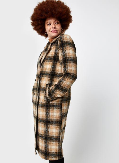 Vêtements Vero Moda Vmhailey Check Long Wool Jacket Ga Marron vue droite