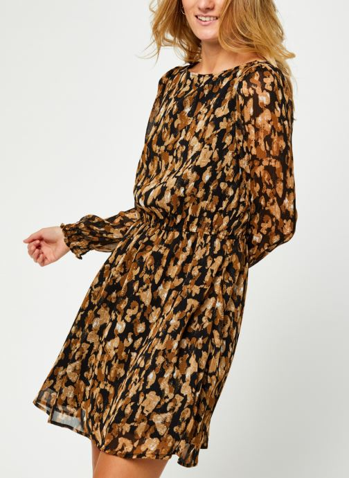 Vêtements Vero Moda Vmmally Ls Boatneck Short Dress Vma Noir vue détail/paire