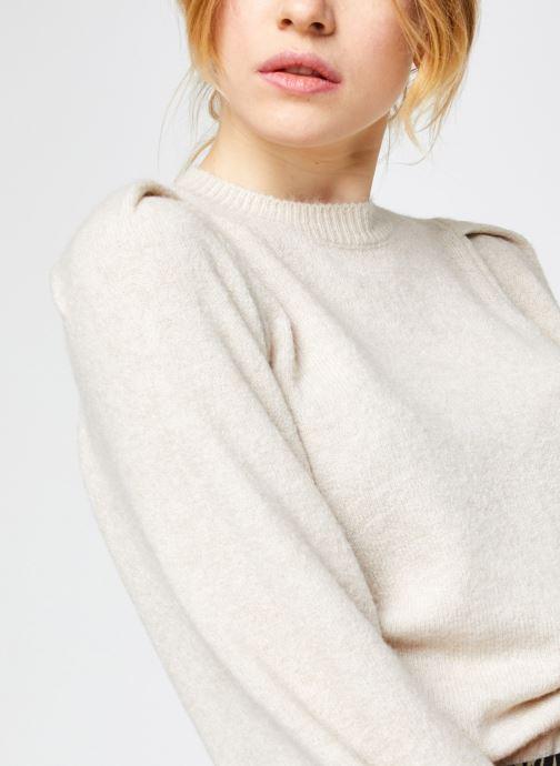 Vêtements Vero Moda Vmmaja Ls O-Neck Knit Vma Beige vue face
