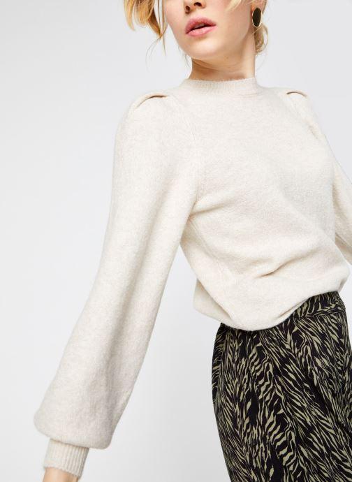 Vêtements Vero Moda Vmmaja Ls O-Neck Knit Vma Beige vue détail/paire