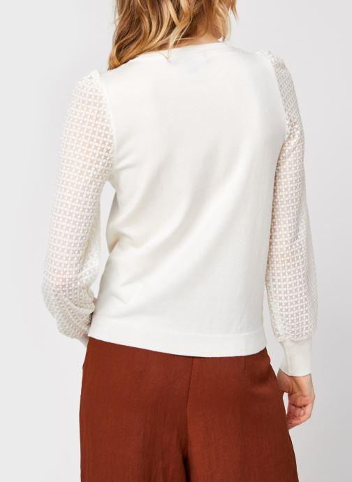 Vêtements Vero Moda Vmmumo Ls O-Neck Blouse Blanc vue portées chaussures