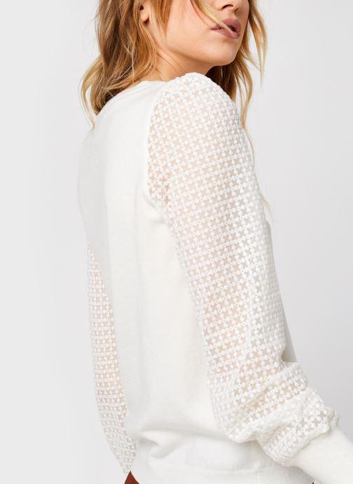 Vêtements Vero Moda Vmmumo Ls O-Neck Blouse Blanc vue face
