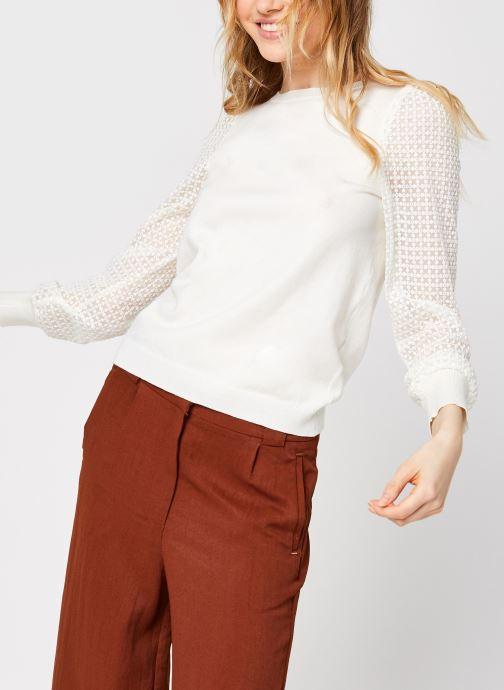 Vêtements Vero Moda Vmmumo Ls O-Neck Blouse Blanc vue droite