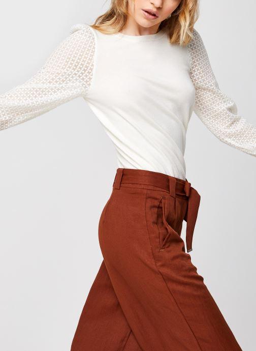 Vêtements Vero Moda Vmmumo Ls O-Neck Blouse Blanc vue détail/paire