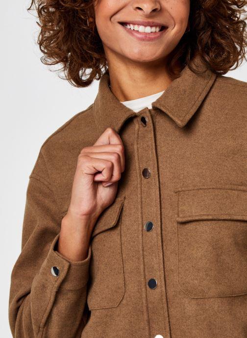 Kleding Vero Moda Vmocean Ls Shirt Vma Bruin voorkant