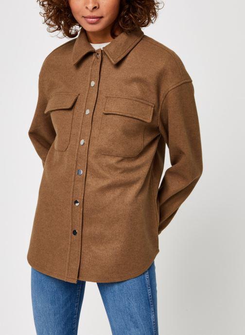 Kleding Vero Moda Vmocean Ls Shirt Vma Bruin rechts