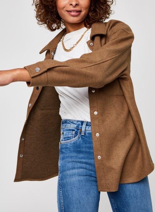 Kleding Vero Moda Vmocean Ls Shirt Vma Bruin detail