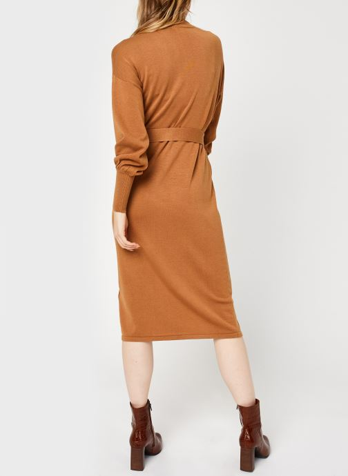 Vêtements Vero Moda Vmmela Ls High Neck Calf Knit Dress Vma Marron vue portées chaussures