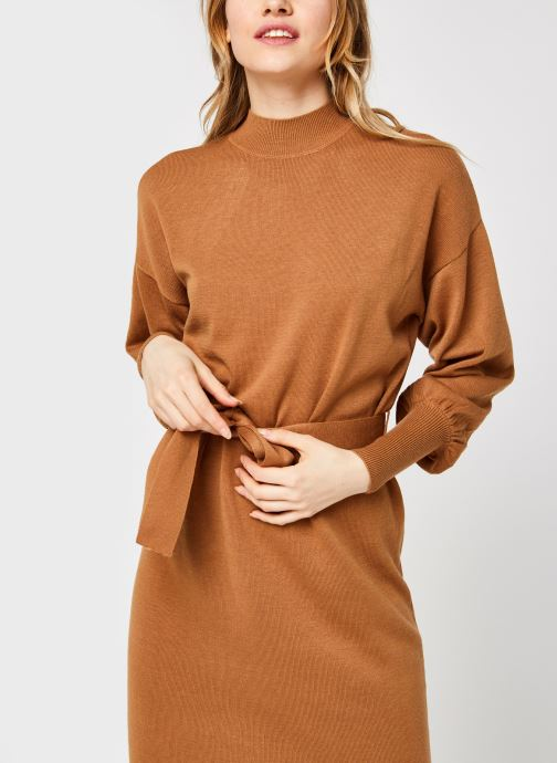 Vêtements Vero Moda Vmmela Ls High Neck Calf Knit Dress Vma Marron vue droite