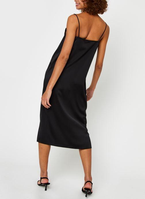 Vêtements Vero Moda Vmmarlin Sl Slip Dress Vma Noir vue portées chaussures