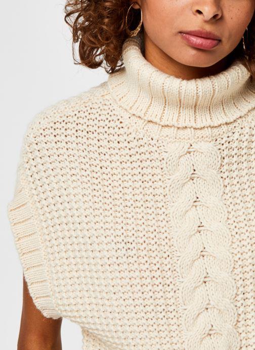 Vêtements Vero Moda Vmmagic Roll Neck Vest Vma Beige vue face