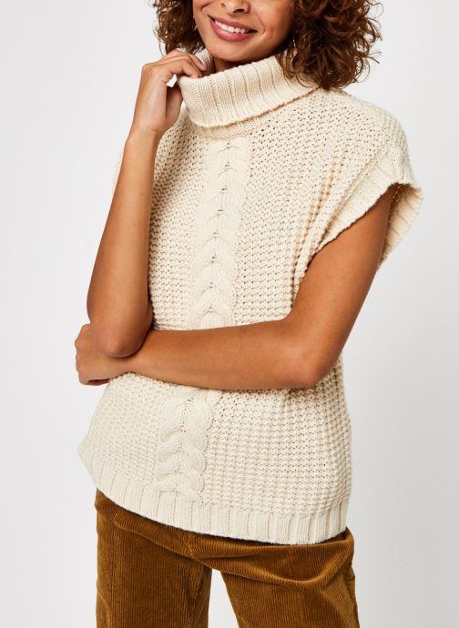 Vêtements Vero Moda Vmmagic Roll Neck Vest Vma Beige vue droite