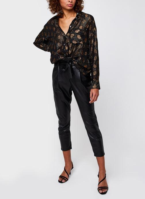 Vêtements Vero Moda Vmeva Hr Paperbag Pu Ankle Pants Noir vue bas / vue portée sac