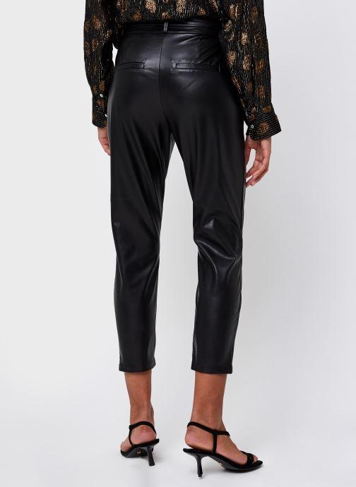 Vêtements Vero Moda Vmeva Hr Paperbag Pu Ankle Pants Noir vue portées chaussures
