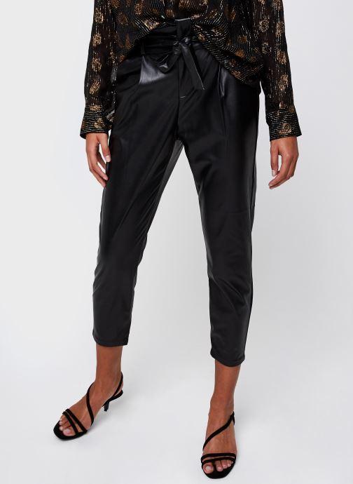 Vêtements Vero Moda Vmeva Hr Paperbag Pu Ankle Pants Noir vue détail/paire