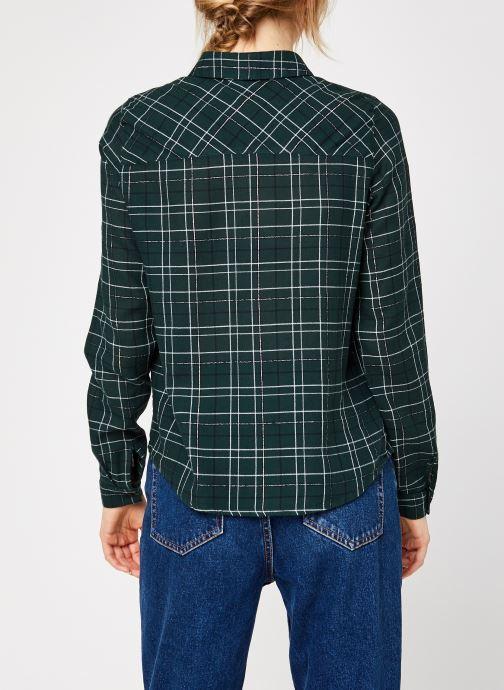 Vêtements Vero Moda Vmflo Ls Shirt Wvn Vert vue portées chaussures